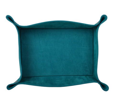 PL022: Rectangle Plush Catch-All Tray, Teal