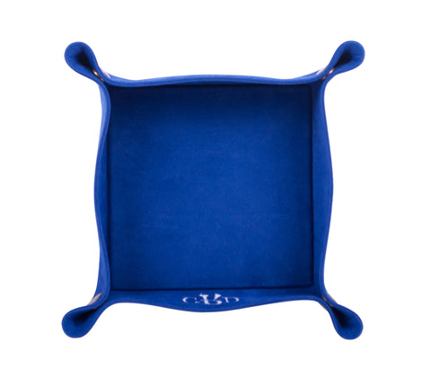 PL029: Square Plush Catch-All Tray, Royal Blue
