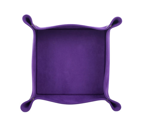 PL045: Square Plush Catch-All Tray, Purple