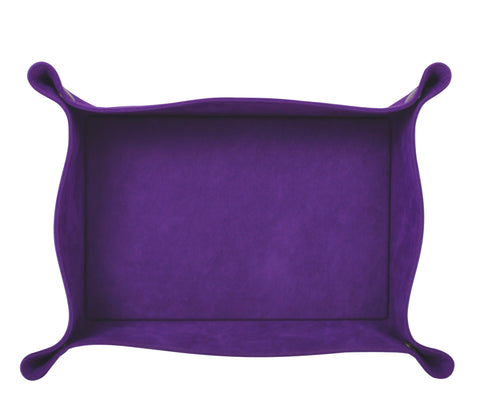 PL046: Rectangle Plush Catch-All Tray, Purple