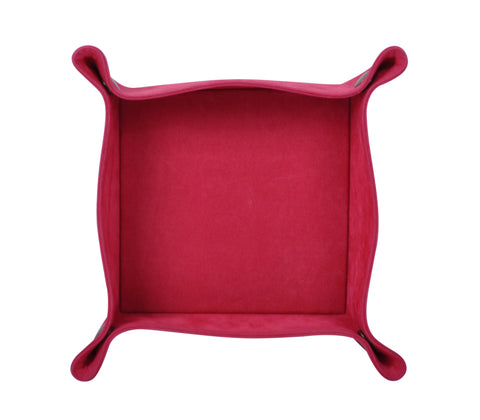 PL053: Square Plush Catch-All Tray, Raspberry