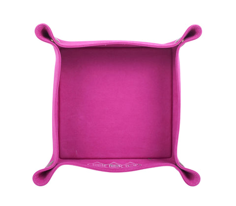 PL057: Square Plush Catch-All Tray, Pink