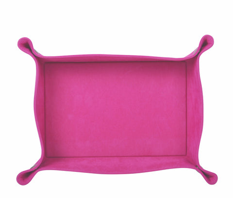 PL058: Rectangle Plush Catch-All Tray, Pink