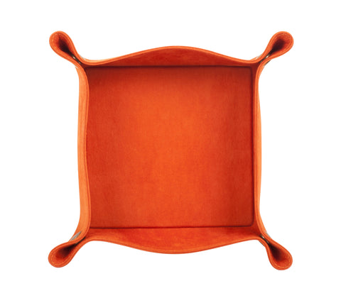 PL059: Square Plush Catch-All Tray, Orange