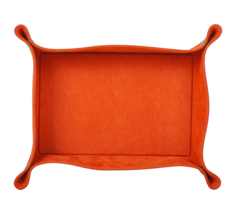PL060: Rectangle Plush Catch-All Tray, Orange