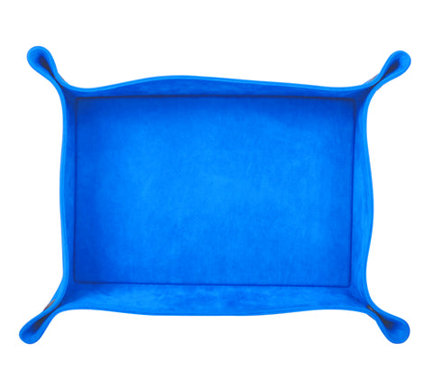 PL062: Rectangle Plush Catch-All Tray, Aqua