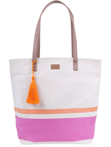ST157: Ravenna Tote, Pink/ Orange