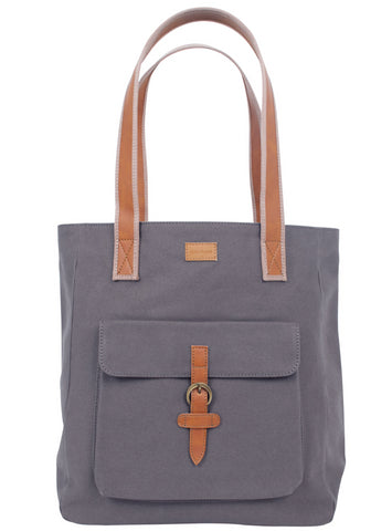 ST168: Mercer Tote, Gray (sturdy canvas work bag)