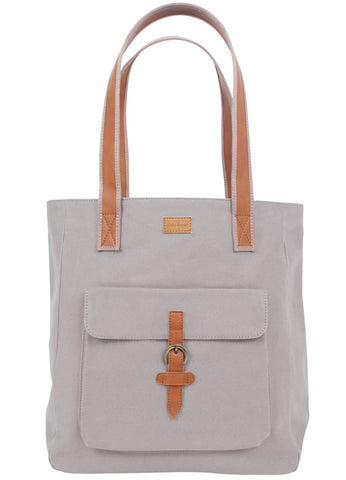 ST170: Mercer Tote, Silver (sturdy canvas work bag)
