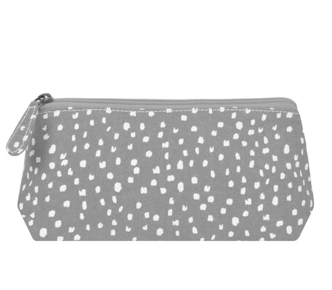 Beauty Pouch, Sprinkle, Gray