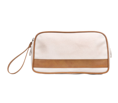 TA191: Jet Set Pouch, Linen (Travel, Toiletry pouch, Cosmetic Pouch, Gift)