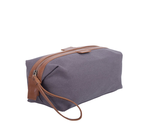 TA194: Essential Pouch, Gray (Travel, Toiletry pouch, Cosmetic Pouch, Gift)
