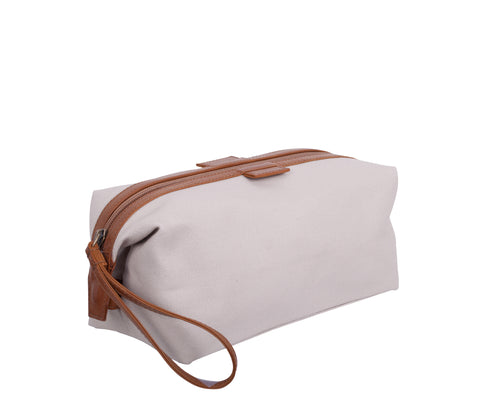 TA195: Essential Pouch, Linen (Travel, Toiletry pouch, Cosmetic Pouch, Gift)