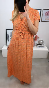 ROBE LONGUE FLEUR DIYA ORANGE