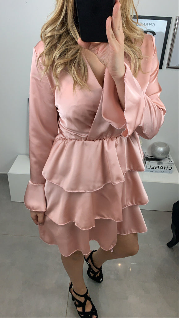 ROBE SATIN ABY ROSE
