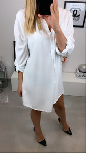 ROBE TUNIQUE FLUIDE HAZEL BLANC