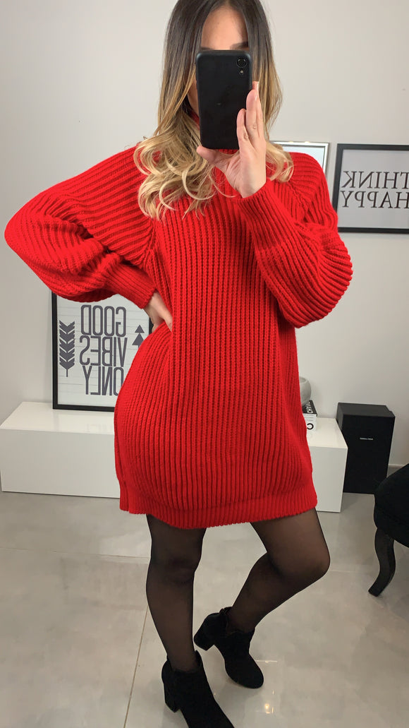 ROBE PULL LYDI ROUGE