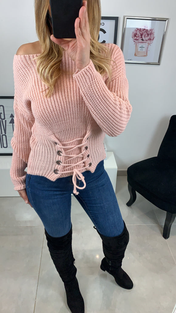 PULL COL ROND CALYS ROSE