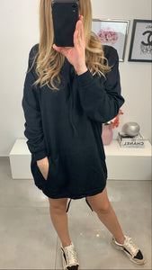 ROBE SWEAT JAYNA CAPUCHE NOIR