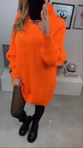 ROBE PULL COL MONTANT KALI ORANGE