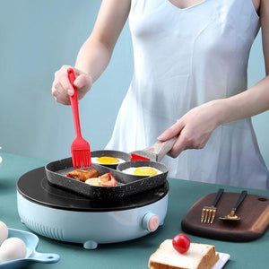 Double Hole Flat Frying Pan