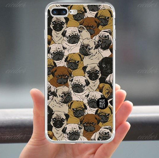 Pug Pattern Phone Case for the iPhone