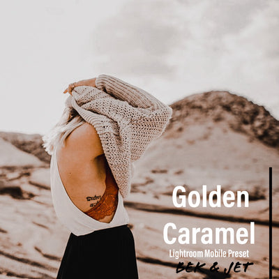 Golden Caramel - Lightroom Mobile Preset - Bek & Jet