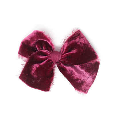 Wine Velvet | Raw Midi Bow
