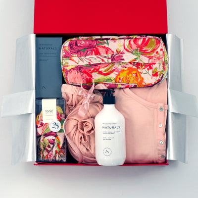Spoil a new mum with a gift hamper for her