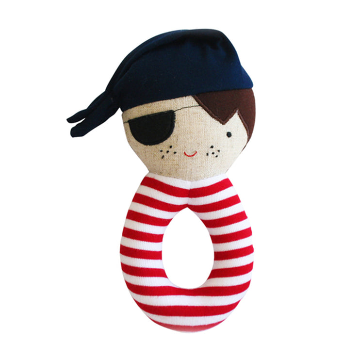Alimrose Pirate Grab Rattle - Linen