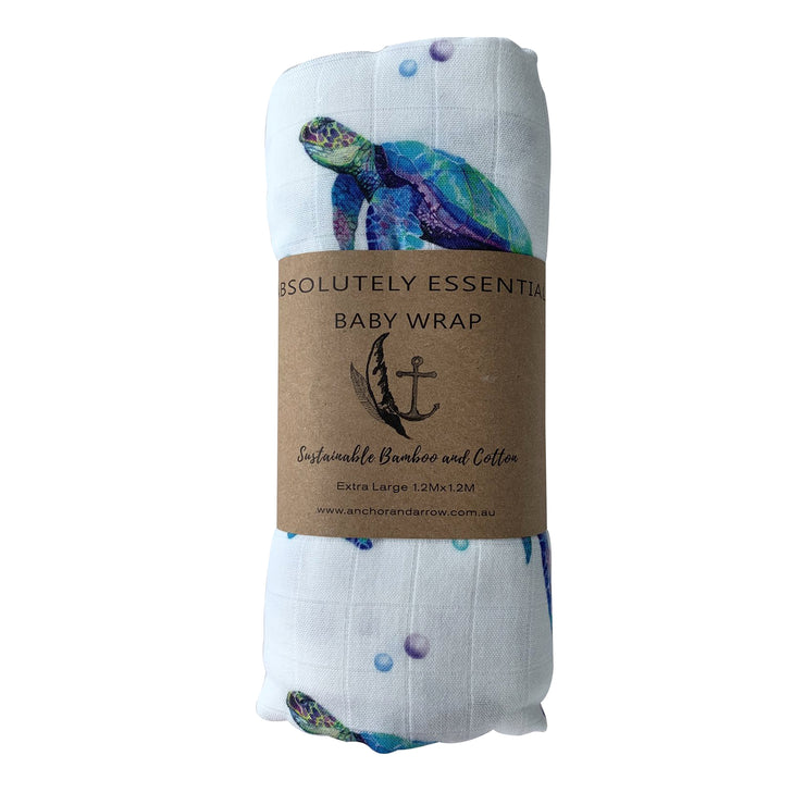 Anchor & Arrow Swaddle - Sea Turtle