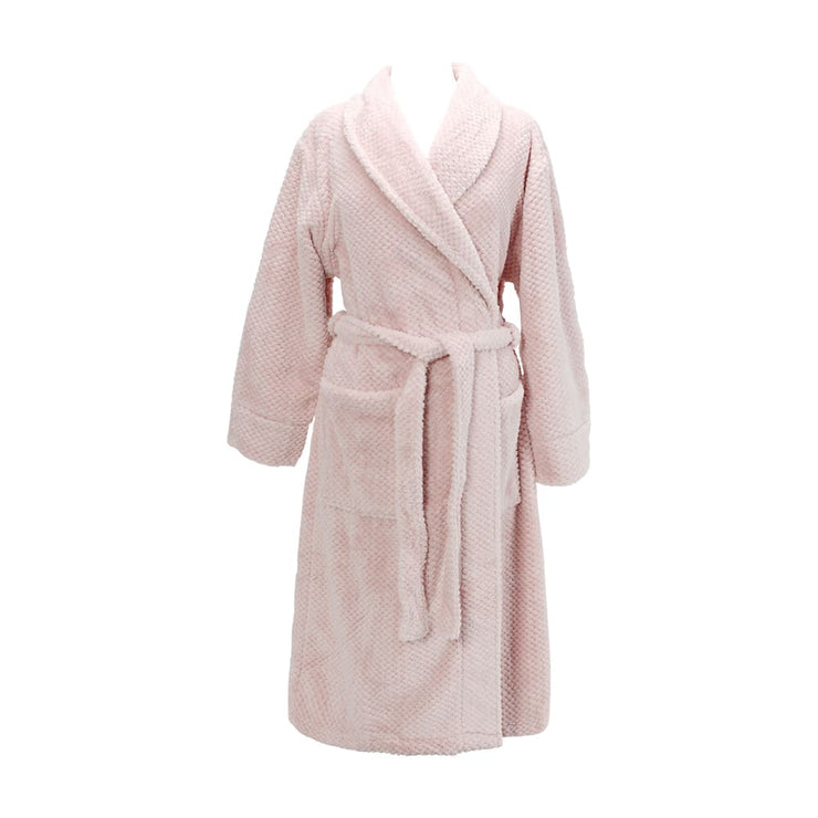 Annabel Trend Cosy Luxe Bath Robe - Pink