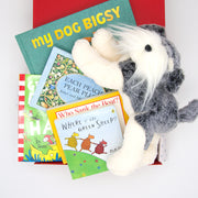 Baby Book Club Hamper including 5 classic children's books and Nana huchy Neddy Teddy. $135.00
