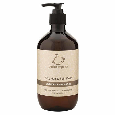 Bubba Organics Lavender & Chamomile Baby Hair & Bath Wash 500ml
