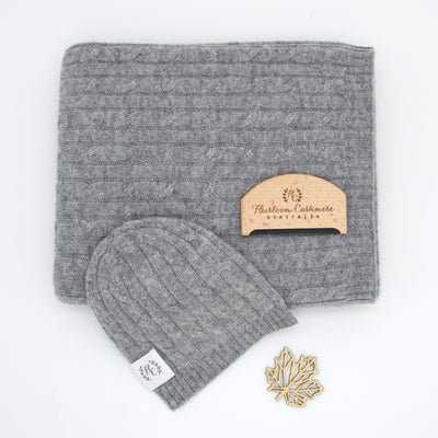 Heirloom Cashmere Set - Grey Marle
