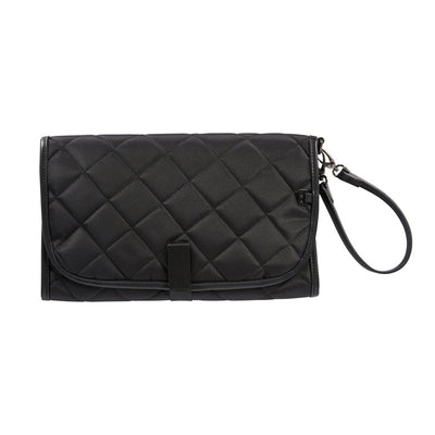 OiOi Nappy Change Clutch - Black Quilt