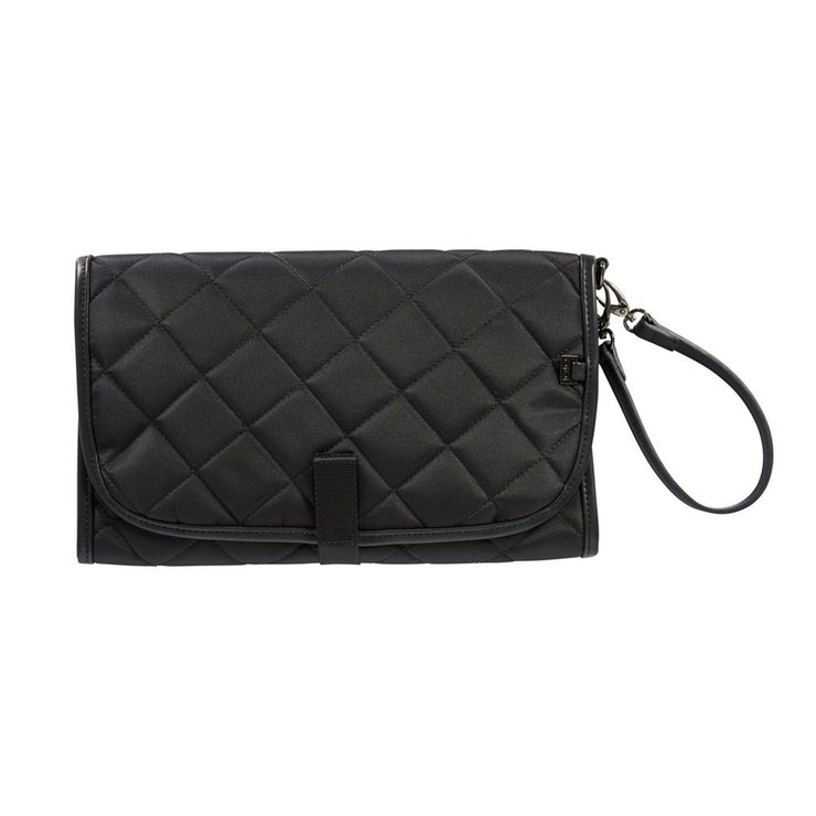 OiOi Nappy Clutch - Black Quilt
