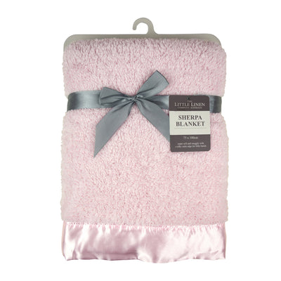 The Little Linen Co Sherpa Blanket - Pink