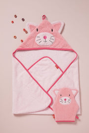 Weegoamigo Hooded Towel - Kitten