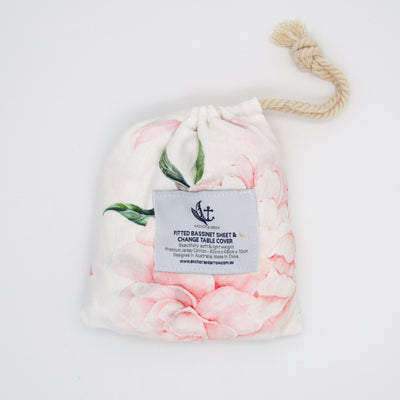 Anchor & Arrow Bassinet Sheet - Pretty Peony
