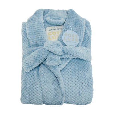 Annabel Trend Cosy Luxe Bath Robe - Dusty Blue