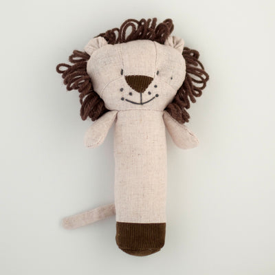 Nana Huchy Levi Lion Rattle is the perfect size for babies to grasp