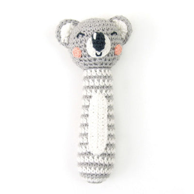 Weegoamigo crochet koala baby rattle is such a cute newborn gift