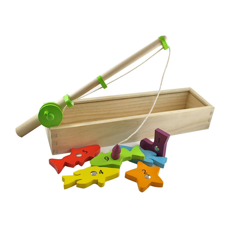 Discoveroo Wooden Magnetic Fishing Set with six fun sea creatures