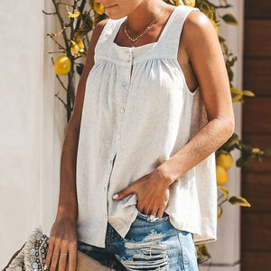 square collar Fit easy matching Tank Top