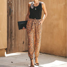 Fashion Leopard Print Loose Casual Pant