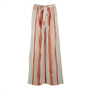 Wide Leg Pants In Striped Print
