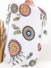 Round Neck Printed Loose-Fitting Blouse