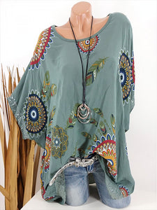 Casual Print Round Neck Print T-Shirt