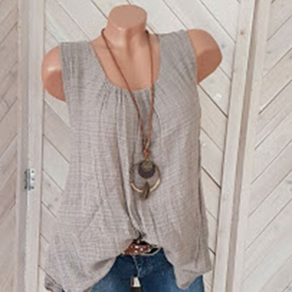 Round Neck Plain Sleeveless vest
